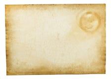 Vieille texture de papier de cru d'isolement sur le blanc Image stock