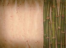 Vieille texture de papier grunge en bambou Image libre de droits