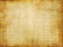 Vieille texture de papier parcheminé de cru de brun jaune Photographie stock libre de droits