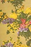 Vieille texture de tissu de fleur Photos libres de droits