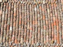 Vieille texture de toit de tuile Image libre de droits