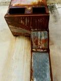 Vieille texture en acier Photographie stock libre de droits