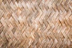 Vieille texture en bambou de modèle de fond Images stock