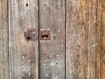 Vieille texture en bois avec le loquet Photo libre de droits
