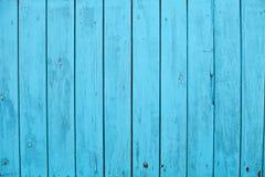 Vieille texture en bois bleue de fond Photographie stock