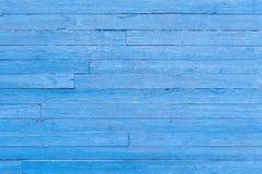 Vieille texture en bois bleue de fond de peinture de planche photographie stock
