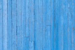 Vieille texture en bois bleue de fond de peinture de planche photos stock