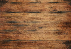 Vieille texture en bois brune âgée de fond de planches photos libres de droits