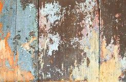 Vieille texture en bois colorée Photo libre de droits