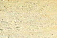 Vieille texture en bois colorée jaune-clair, plan rapproché photo libre de droits