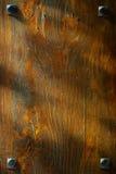 Vieille texture en bois de fond de Brown de grain Photos libres de droits