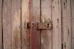 Vieille texture en bois de trappes Image stock