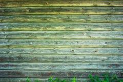 Vieille texture en bois grise extérieure de photo de fond de mur Photo libre de droits