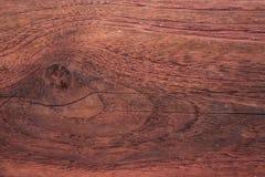 Vieille texture en bois rouge-brun Photos libres de droits