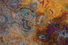 Vieille texture en bois superficielle par les agents avec une couche endommagée abrégez le fond Images libres de droits