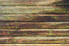 Vieille texture en bois verte de planche comme fond closeup image stock