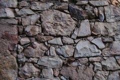 Vieille texture et fond de mur en pierre Fond de mur de roche Image libre de droits