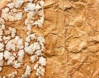 Vieille texture froissée de papier brun Image stock