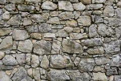 Vieille texture grise de mur en pierre Image libre de droits