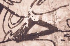 Vieille texture grunge beige de fond de mur images stock
