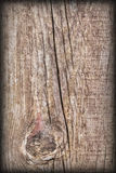 Vieille texture grunge en bois nouée de fond de Vignetted Image stock