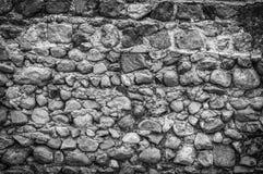 Vieille texture matérielle grunge en pierre de fond du ciment B&W Image stock