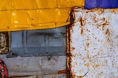 Vieille texture rouillée de fond en métal texture grunge de la vieille surface colorée de peinture photos stock