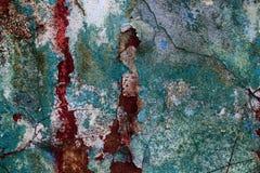 Vieille texture vide d'art de mur de briques de plâtre Mauvaise éraflure peinte photographie stock libre de droits