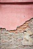 Vieille texture vide de mur de briques Images stock