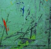 Vieille toile de peinture peinte par turquoise pour le dessin image stock