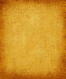 Vieille toile jaune Image libre de droits