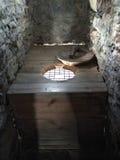 Vieille toilette en bois Photographie stock libre de droits
