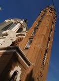 Vieille tour d'église Photos libres de droits