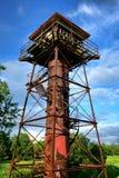 Vieille tour d'artillerie au fort Mott dans le New Jersey Photographie stock libre de droits