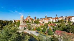 Vieille tour d'eau, Bautzen Photos stock