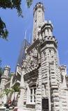 Vieille tour d'eau Chicago l'Illinois Images libres de droits