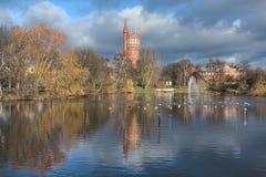 Vieille tour d'eau dans Landskrona, Suède image libre de droits