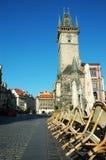 Vieille tour d'horloge astronomique à Prague Photos stock