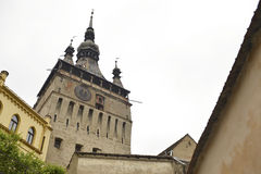 Vieille tour d'horloge, Sighisoara, Roumanie Photographie stock libre de droits