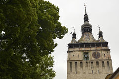 Vieille tour d'horloge, Sighisoara, Roumanie Photographie stock