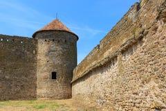 Vieille tour dans le château d'Akkerman Photos stock