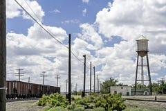 Vieille tour de chemin de fer et d'eau au Wyoming Photo libre de droits