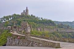 Vieille tour de citadelle de Veliko Tarnovo images stock