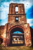 Vieille tour de monastère Images libres de droits