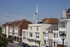 Vieille tour de Portsmouth et de Spinnaker Image libre de droits