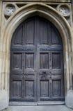 Vieille trappe d'église Photos stock