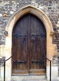 Vieille trappe d'église Images stock