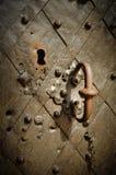 Vieille trappe de fer Photographie stock libre de droits
