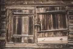 Vieille trappe de grange en bois Photographie stock