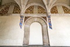 Vieille trappe de monastère Photographie stock